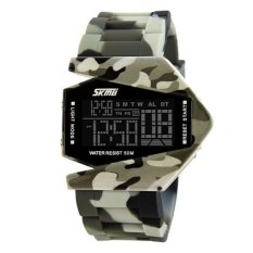 Fashion Brand Alloy Sport Watch Army Military Led Digital Watches Men Camouflage Fighter Stealth Aircraft Electronic Mens Military Watches Gray (Intl)