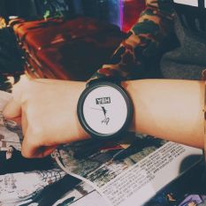 Fashion Brand HBA Leather Strap Unisex Watches Men Quartz Women Dress Watch Sports Military Relojes Geneva Wristwatch (White)