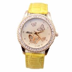 Fashion Butterfly Diamond Watch Yellow