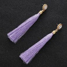 Amefurashi Anting Korea Daun Asimetris Asymmetric Leaf Clip Dangle Source · Fashion Charm Women Bohemia Crystal