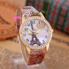 Fashion Eiffel Tower Quartz Vintage Leather Watch Women Retro Wrist Watches
