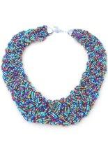 Fashion Elegant Pure Manual Vintage Bohemian Pendant Necklace Short Chain Women Lady Jewelry Purple