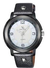 Fashion Hot Sale Classic Men Leather Business Quartz Wristwatch White (Intl)