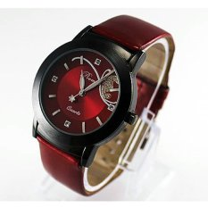 Fashion Lady Girl Women Luxury Diamond Pretty Quartz Wrist Watch Red