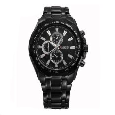Fashion Male Watch Men Casual Stainless Steel Quartz Watches Men Luxury Brand Wristwatch Relogio Masculino Black&black&black (Intl)