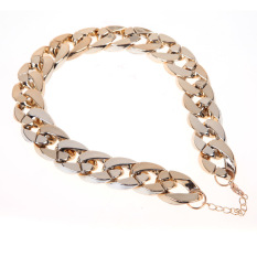 Fashion Retro Gothic Punk Golden Chunky Link Chain Short Necklace (Intl)