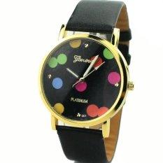 Fashion Simple Dot Black Belt Fashion Watches For Women Fashion Quartz Watch - INTL