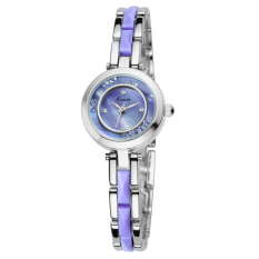 Fehiba KIMIO Watch New Authentic Korean Fine Quartz With Diamond Imitation Ceramic Female Form KW509S (Purple)