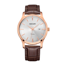 Fehiba MEGIR Men's Watches Male Table Minimalist Fashion Watch Waterproof Sports Watch 4154 (White)