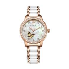 fengyun CITOLE watch women's ceramic automatic mechanical watch hollow fashion women's watch genuine waterproof s9058 (
