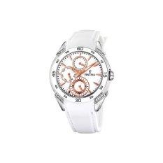 Festina Women's F16394/3 White Silicone Quartz Watch With White Dial (Intl)