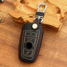 Fit For BMW 1 3 5 6 7 Series M1 M2 M3 E90 F05 F10 F20 F30 Z4 X1 X3 X4 X5 X6 Red Leather Key Cover Keyless Remote Control Protecting Case Smart Key Holder - Intl