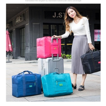 Foldable Travel Bag - Tas Travel Parasut Tas Lipat Kait Koper TasTravel Tas Travel Jinjing Tas Koper - Multicolour