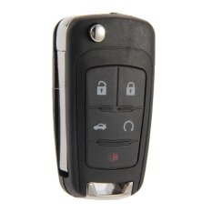 Folding Remote Key Case Shell Fob 5 Buttons For Chevrolet Camaro Cruze (Intl)