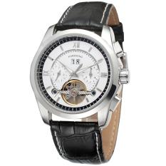 Forsining Men Mechanical Automatic Dress Watch Tourbillion With Gift Box FSG625M3S1 (White)