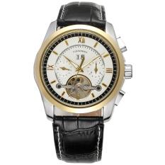 Forsining Men Mechanical Automatic Dress Watch Tourbillion with Gift Box FSG625M3T3 (White) (Intl)