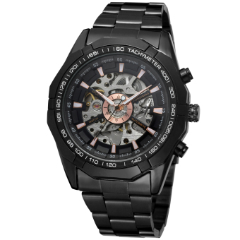 Forsining Men Mechanical Automatic Dress Watch with Gift Box FSG8042M4B1 (Black)