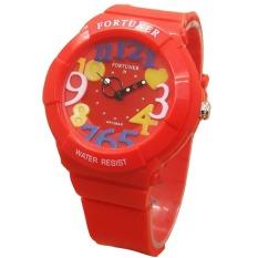 Fortuner Sporty - Jam Tangan Wanita - Rubber Strap - FR J844 Red