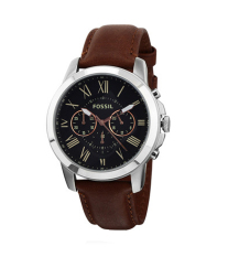 Fossil FS4813 - Jam Tangan Pria - Brown Black- Strap Leather