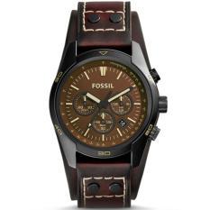 Fossil Jam Tangan Pria Fossil CH2990 Coachman Chronograph Oak Barrel Leather Watch