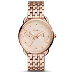 Fossil Jam Tangan Wanita Fossil ES3713 Tailor Multifunction Rose-Tone Stainless Steel Watch
