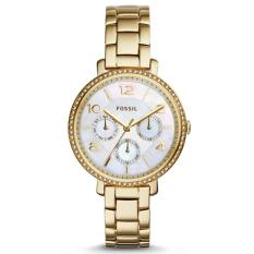 Fossil Jam Tangan Wanita Fossil ES3756 Jacqueline Multifunction Gold-Tone Stainless Steel Watch