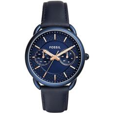 Fossil Jam Tangan Wanita Fossil ES4092 Tailor Multifunction Blue Leather Watch