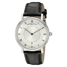 Frederique Constant Men's FC306MC4S36 Slim Line Stainless Steel Watch With Black Leather Band (Intl) (Intl)