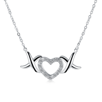 Fulemay 925 Sterling Silver Large Statement Neckles Jewelry Wholesale Angel Wing Heart Necklace SPCN856
