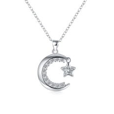 Fulemay Top Sale Diamond Necklace Jewelry, Ladies Design Sterling Silver 925 Necklace Jewelry SPCN859