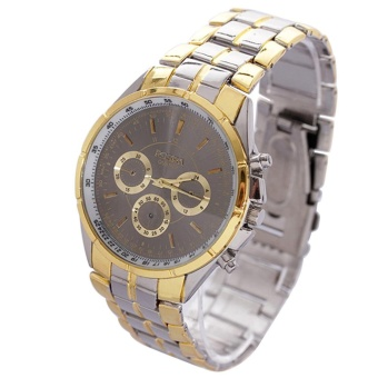 Full Stainless Steel Watch Men Business Casual Quartz Watches BK - intl