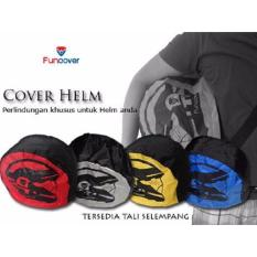 FunCover RainCoat Sarung Helm Anti Air Jas Hujan Tas - Hitam