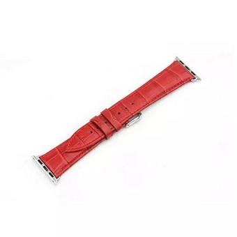 GAKTAI Unisex Replacement Leather Buckle Wrist Watch Strap Band Belt for iWatch Apple Watch 38MM -