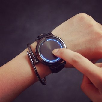 Gaya busana pria wanita memimpin gaun bergaya jam kuarsa jam gelang tahan air jam tangan olahraga