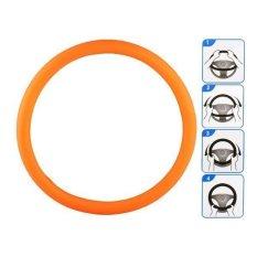 Generic A825 Vehicle Silicone Steering Wheel Case Orange