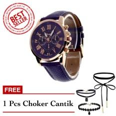Geneva Free Choker Cantik - Jam Tangan Wanita - Ungu - Strap Kulit - TPT4122705UNG1 FREE CHOKER
