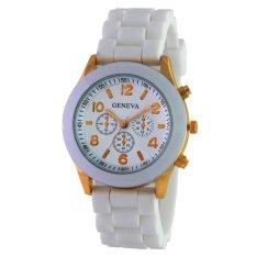 Geneva Ladies Cosmo Jam Tangan Wanita - Resin - Putih - GNV LC 0086 White