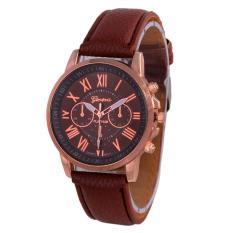 Geneva Leather Cecile Jam Tangan Wanita - Kulit - Coklat - Geneva GNV LC 0990 Dark Brw