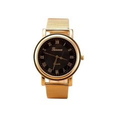 Geneva New Arrival Women Dress Wristwatches Fashion Roma Gold Watch Casual Watch Quartz Stainless Steel Clock (Gold) (Intl)
