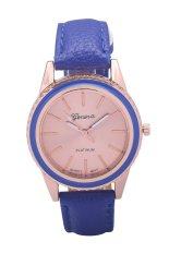 Geneva New Luxury Creative Gear Style Watch Ladies Fashion Dress Quartz Wristwatches (Blue)