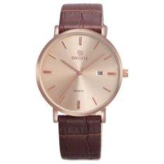 Genuine Leather High Quality Quartz Movement Luxury Skone Brand Men Watches Full Calendar High-Grade Watches - Intl