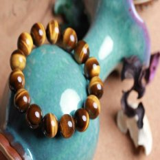 Genuine Natural Crystal Tiger Eye Tiger Eye Stone Prayer Beads Bracelet Bracelets Men and Women Lucky Transport Opening Special Offer Free Shipping -8mm Standard 22 (Intl)