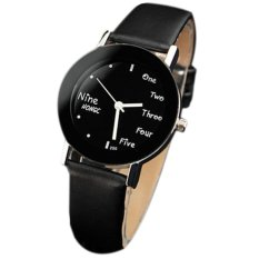 Girls PU Leather Watch Unisex Fashion Casual Lovers Quartz Watches Popular Students Wrist Watch Relogio Feminino (Intl)