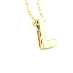 Gold Color Initial Chain Necklaces Women Alphabet 26 Letters A-Z Pendant Necklace Fashion Necklace Pendant Clavicle Chain (Intl)