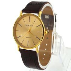 Golden Fashion Luxury Gentle Men S Man Leather Band Quartz Wrist Watches Xmas Gifts Free Shipping (Intl)