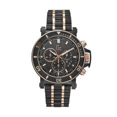 GUESS COLLECTION Gc HOMME X95002G2S - Chronograph - Jam Tangan Pria - Stainless - Black - Rose Gold