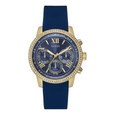 Guess - Jam Tangan Wanita Chronograph - Biru - Strap Silikon - W0616L2