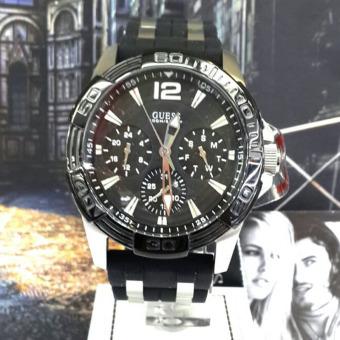 Guess Premium - Jam Tangan Pria - rubber Strap - Guess W0366G1