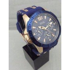 Guess W 0366 G4 - Jam Tangan Pria - Strap Rubber (Biru)(Multicolor