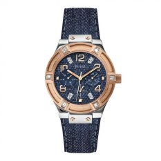 Guess W0289L1 Jet Setter - Jam Tangan Wanita - Blue - Denim - Leather - Stainless Steel - Guess Watch
